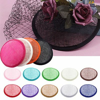 Colorful DIY Round Sinamay Hat Base For Fascinator Party Millinery Craft 13.5cm