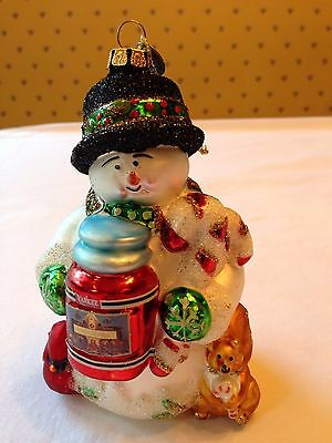 YANKEE CANDLE Christmas Tree Ornament CHRISTOPHER SNOWBRITE Snowman