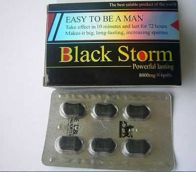 EASY TO BE A MAN 1 BOXES 8000mg x 6 BLACK STORM PILLS SAME DAY SHIP !