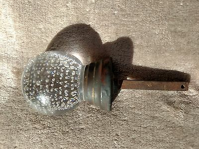 Antique Pairpoint Controlled Bubble Ball Glass Doorknob c1894
