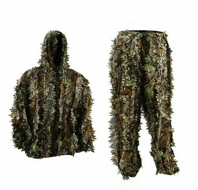Hunting Camouflage Ghillie Suit 3D Camo Clothing Jungle Military Training Sniper