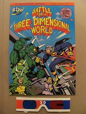 Battle For A Three Dimensional World #1 Jack Kirby 3-D with Glass 1982 3D Cosmic