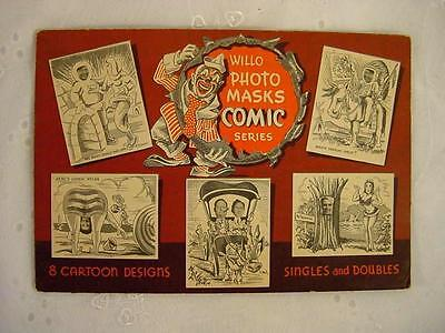 Vtg Willo Photo Masks Comic Series Cards To Make-In Envelope-1940's