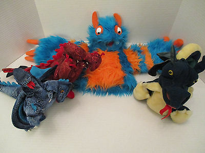 Mixed Lot Folkmanis Dragon and Monster Puppets nice variety