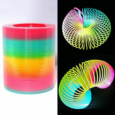 JUMBO Rainbow Magic spring Slinky Fun Kids Toy Magic Stretchy Bouncing Toys