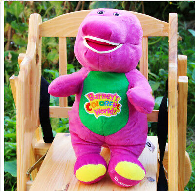 """NEW Singing Barney and Friends Barney 12"""" I LOVE YOU Song PLUSH DOLL TOY RARE"""