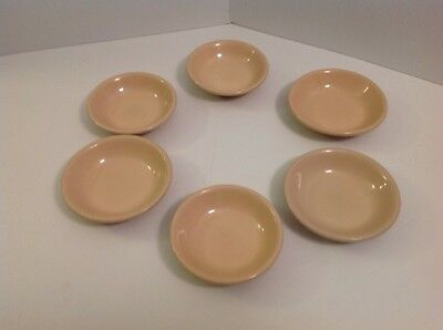 Vintage Shenango China Pottery Custard/desert/fruit Bowl Lot Of 6 Restaurant