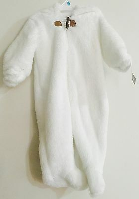 CARTERS BABY Boy or Girl WARM PLUSH WHITE Winter Outwear SHERPA BUNTING SNOWSUIT