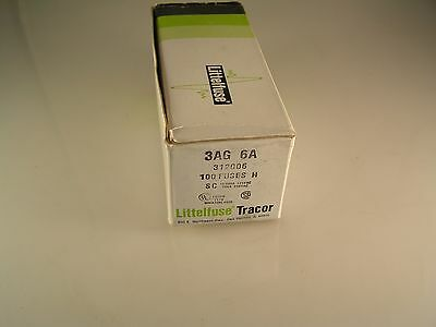 Littelfuse 312006 3AG 6A 32mm x 6.3mm Quick Blow Golpe Rápido Fusibles OLB017b
