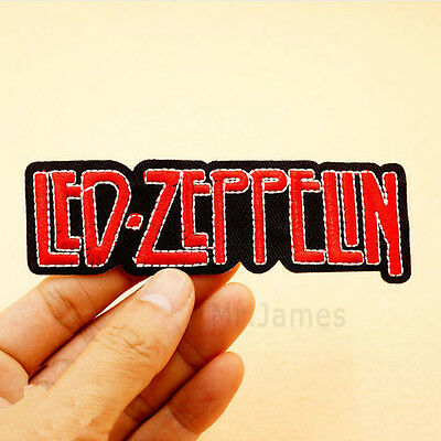 1x LED ZEPPELIN Embroidered Iron On Patch Badges Lace Fabric Applique DIY