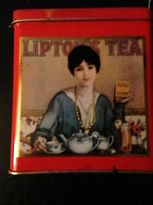 Lovely English Antique/Vintage Lipton's Teas Tin Box.