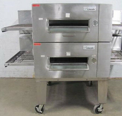 Lincoln 1600 Doublestack Gas Conveyor Pizza Ovens - Warranty Avail.