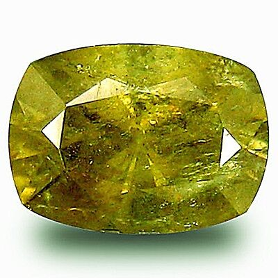 UNBEHANDELT ! Echter Granat-Demantoid. Russland, 0,55 ct, 6,7 x 4,2 mm