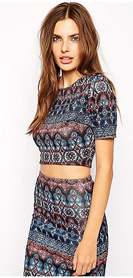 Crop Top in Kaleidoscope Print