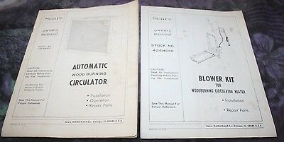 Automatic Wood Burning Circulator Owner's Manual & Blower Kit Sears Installation