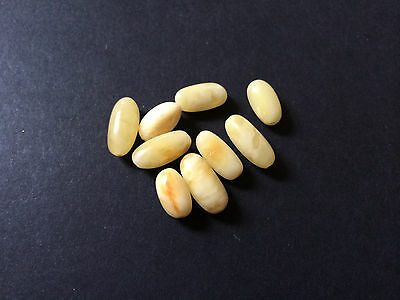 Natural antique Baltic amber stone beads  #7538