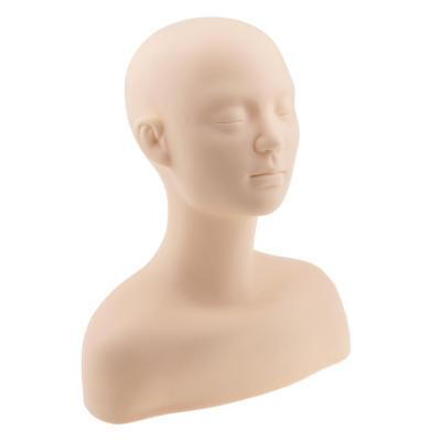 Soft Silicone Training Mannequin Head Maquillage Massage Practice Head