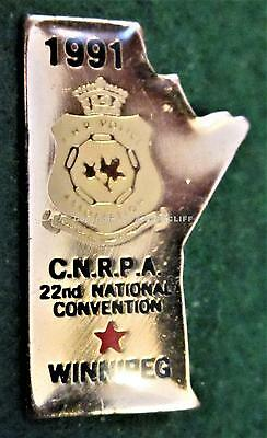 C.N.R. POLICE ASSOCIATION 1991 CONVENTION CANADIAN NATIONAL RAILWAY Pin