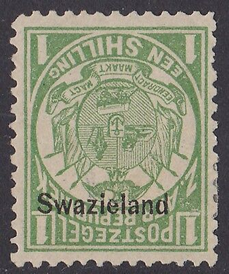 "SWAZILAND : 1889 ""Swaziland"" Transvaal Arms 1/- ERROR INVERTED PHOTO CERTIFICATE"