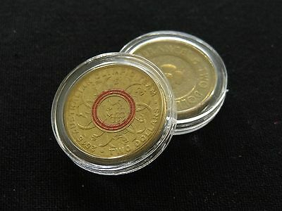 BULK 20 x 21mm Clear Coin Capsule for Australia Two Dollar $2 Coins