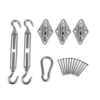 Triangle Sun Sail Shade Installation Accessory Hardware Kit -Stainless Steel