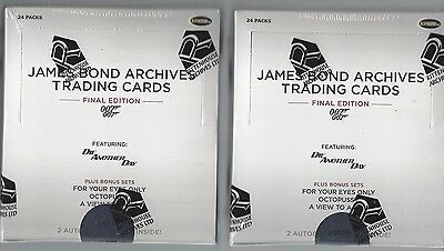 2017 James Bond Archives Final Edition 2 Box Lot Factory Sealed **Roger Moore**
