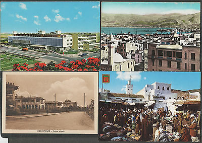 k1182)      4  x  VINTAGE/OLD POSTCARDS FROM THE MIDDLE EAST AREA