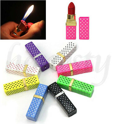Fashion Lipstick Shaped Cigarette Refillable Butane Gas Flame Torch Lighter Hot