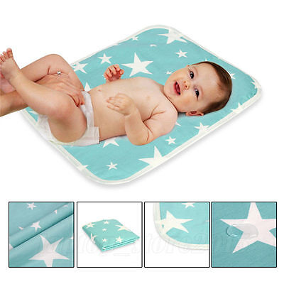 Baby Infant Waterproof Urine Mat Changing Pad Cover Liner Reusable 4 sizes