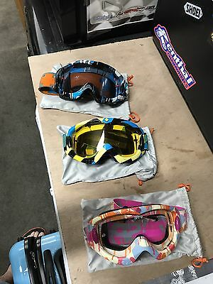 Motocross And Mountain Bike Googles And Gloves. Spy. Fox Racing