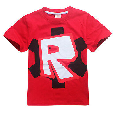Kids ROBLOX T shirt Baby Boys Short Sleeve T-shirt  Summer Casual Tee Tops Red