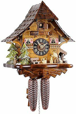 GENUINE BLACK FOREST CUCKOO CLOCK WOODEN 8 Day Mechanical Mechanism with VDS –