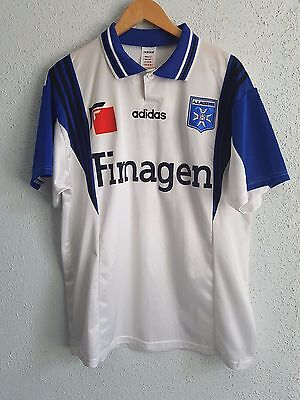 Vitage Museum FC Auxerre 1998/1999 Home Jersey Adidas Finagen #17 Kuami Agboh