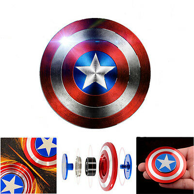 3D Fidget Hand Finger Spinner Captain America Stress Reliever Toys Kids Adults
