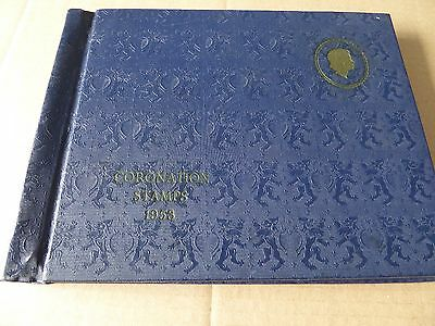 Hard Back Book With Set of GB & Commonwealth Coronation Mint Stamps 90 in all