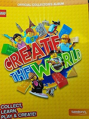 SAINSBURYS Lego Create The World Official Collectors Album with 400 new cards