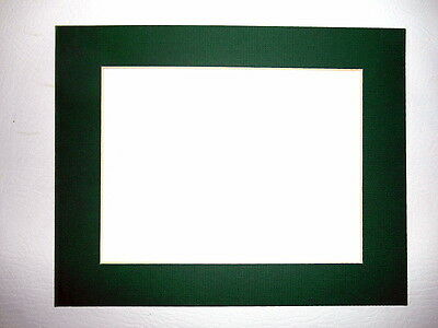 Pre Cut 8 x 10 in. Hunter Green Picture Photo Framing Mat Board 20 Available
