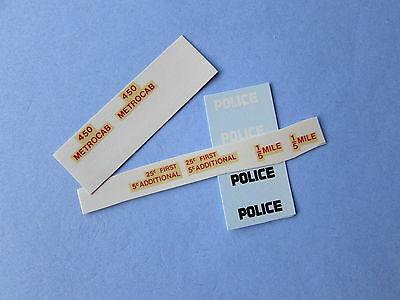 Dinky American Police/taxi Cars Decal/transfer Superb Offer 7