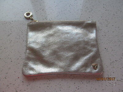 Aspinal of London Gold Toned Pouch BNWOT