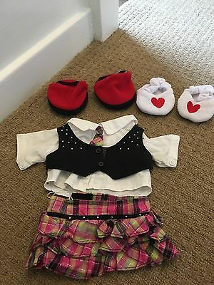 build a bear outfit and two pairs of shoes