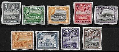 Antigua 1953 QEII Pictorials SS with values to 24c  - MH