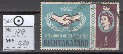 BoR1122 British Colonies 1965 used 1v BECHUANALAND Hands Cooperation Year