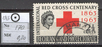 BoR1121 British Colonies 1963 used 1v Bechuanaland RED CROSS