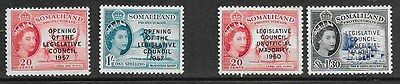 Somaliland Protectorate QEII 1957 & 1960 - Opts - Progress to Unification - MH