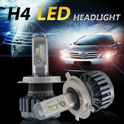H4 60W 12000LM CSP LED Headlight KIT Replace Halogen Xenon HIGH LOW Beam 6000K