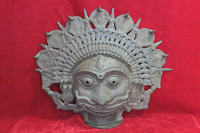 Vintage Old Carving Handcrafted Mask Home Decor Antique Collectible PW-87