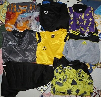 Stock 7 Maglie Shirts Jersey + Pants Calcio Football Portiere Gk Uhlsport Sz.m