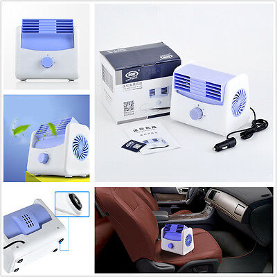 Car Auto Boat Truck Cooling Air Fan 2-Speed Adjustable Silent Blower Cage Design