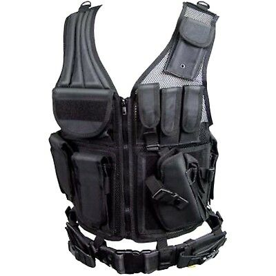 Tactical Weste Paintball mit Koppel Combat Zone Vest Airsoft Einsatzweste