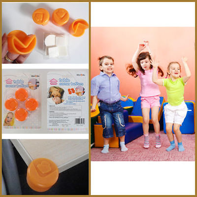 8 x Baby Safety Corner Protectors Table Edge Sharp Cover Lids Child Proofing NEW